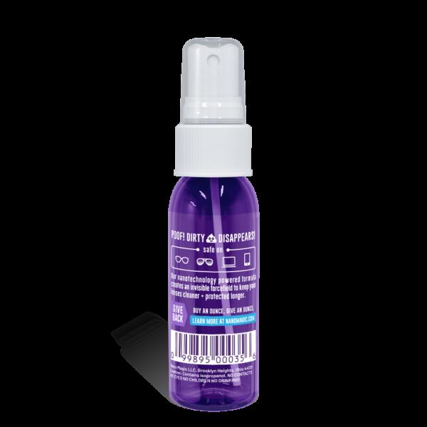 Nano Magic - 1oz Lens Cleaning Spray - Back